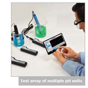Test array of multiple pH units